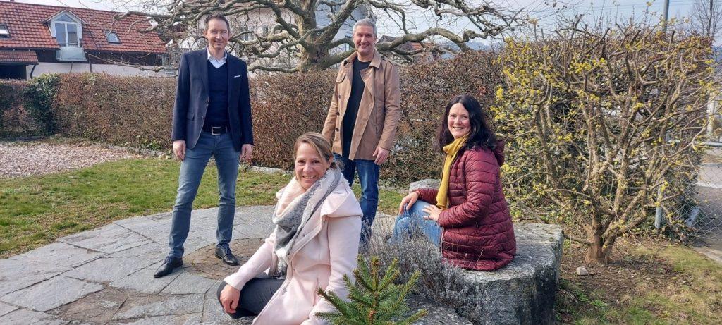v.l. Guido Stalder (neu), Bettina Gasser (bisher), Daniel Eberle (bisher), Renate Knott (bisher)